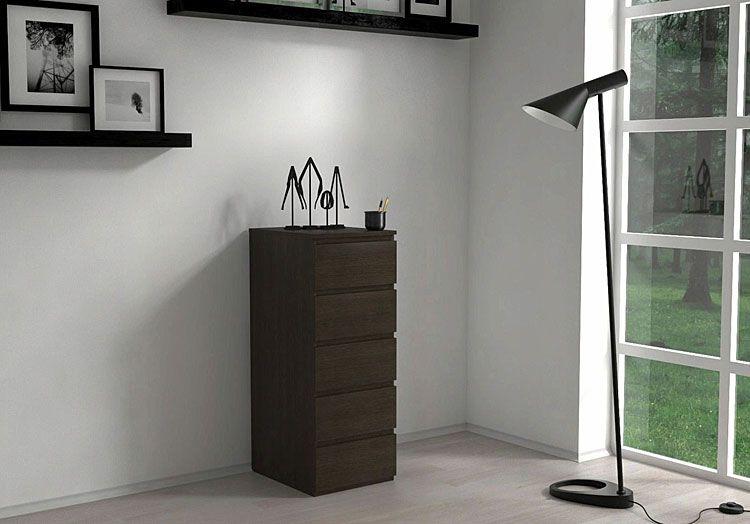 Stojąca komoda do salonu, biura wenge Luvia