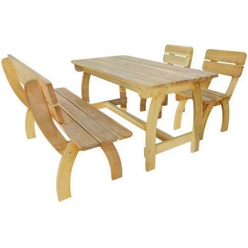 Zdjęcie produktu Zestaw drewnianych mebli ogrodowych Darco 2X - brązowy.