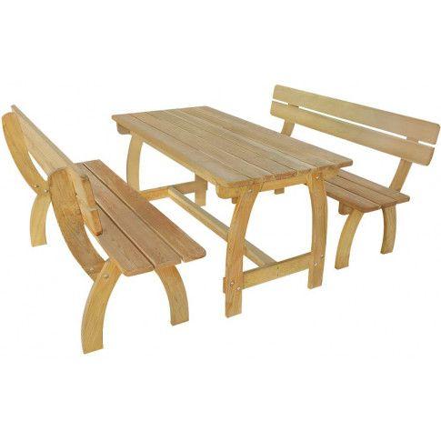 Zdjęcie produktu Zestaw drewnianych mebli ogrodowych Darco 3X - brązowy.