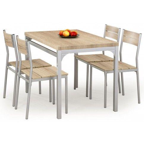 Zdjęcie produktu Stół z krzesłami Torino - dąb sonoma.