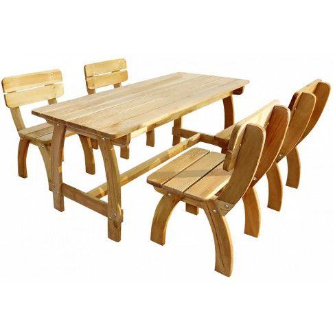 Zdjęcie produktu Zestaw drewnianych mebli ogrodowych Darco 4X - brązowy.
