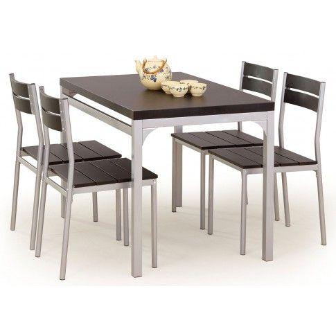 Zdjęcie produktu Stół z krzesłami Torino - wenge.