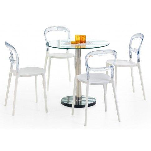 Zdjęcie produktu Marmurowy stół ze szklanym blatem Boris.