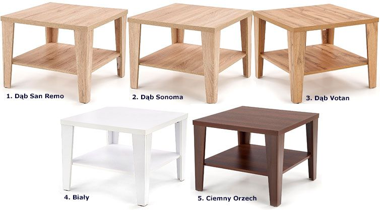 Kwadratowy stolik kawowy do salonu Sarea 2X