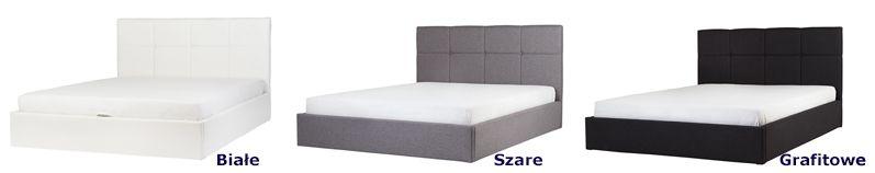 Designerskie łóżko Mariel - pikowane