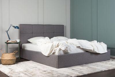 Stylowe łożko Mariel - szare