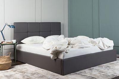 Stylowe łóżko Mariel - szare