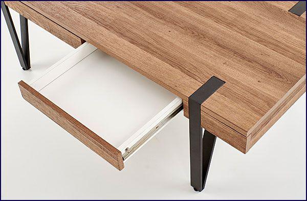 Prostokątny stolik kawowy orzech miodowy Doria