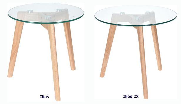Modne stoliki Ilios - szklane