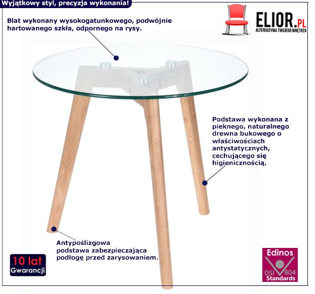 Designerski stolik Ilios 2X - drewno