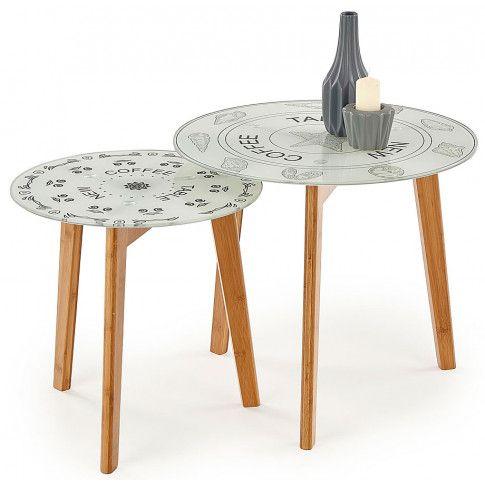 Zdjęcie produktu Zestaw dwóch okrągłych stolików Mandi.
