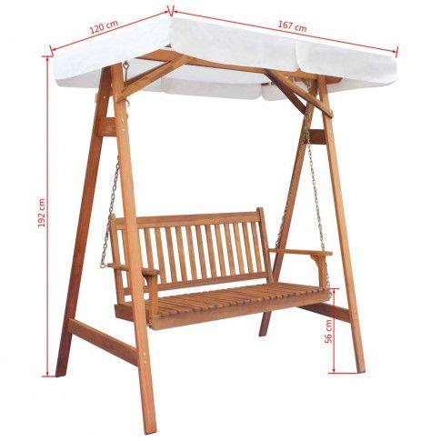 Zdjęcie produktu Ogrodowa huśtawka drewniana Charlotta.