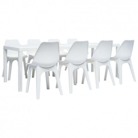 Zdjęcie produktu Zestaw mebli ogrodowych Lares 3X - biały.