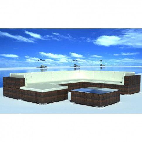 Zdjęcie produktu Zestaw wypoczynkowy do ogrodu Caste 3X - brązowy.
