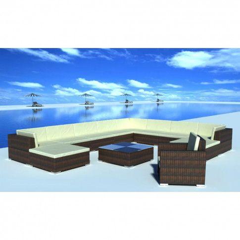 Zdjęcie produktu Zestaw wypoczynkowy do ogrodu Caste 4X - brązowy.