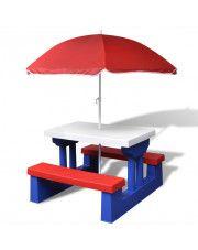 Stół piknikowy dla dzieci Avec - wielokolorowy