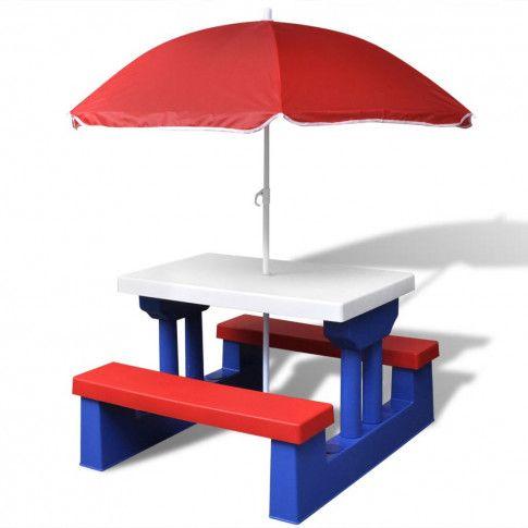 Zdjęcie produktu Stół piknikowy dla dzieci Avec - wielokolorowy.
