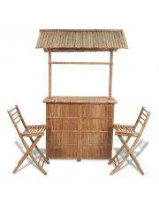 Zestaw mebli bistro z bambusa Havanas - brązowy