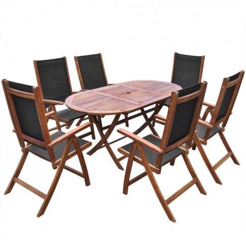 Zdjęcie produktu Zestaw mebli ogrodowych Wucan - brązowy.