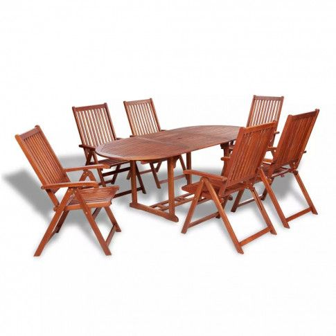 Zdjęcie produktu Zestaw drewnianych mebli ogrodowych Linder 2X - brązowy.