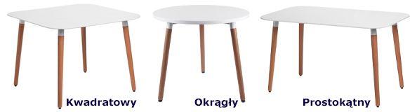 Nowoczesne stoły Tallik - białe