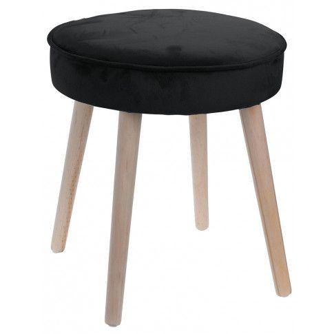 Zdjęcie produktu Taboret Rimmi welurowe siedzisko - czarny.