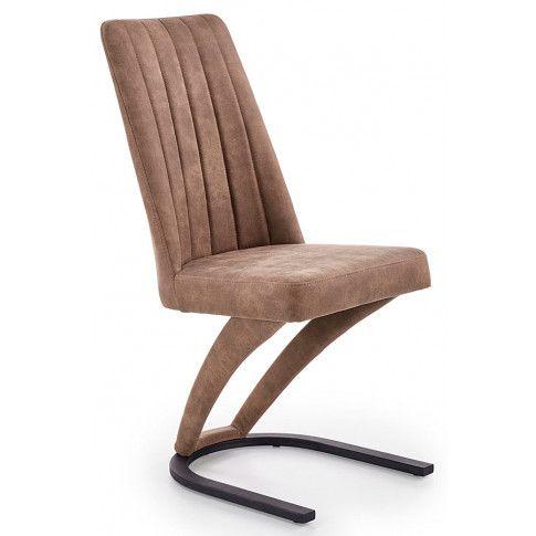 Zdjęcie produktu Krzesło tapicerowane Travor - brązowe.