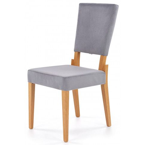 Zdjęcie produktu Krzesło drewniane tapicerowane Elton - popiel + dąb miodowy.