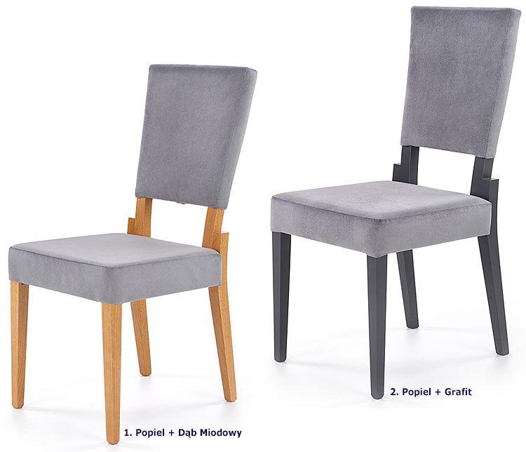 Drewniane krzesł oszare do jadalni Elton
