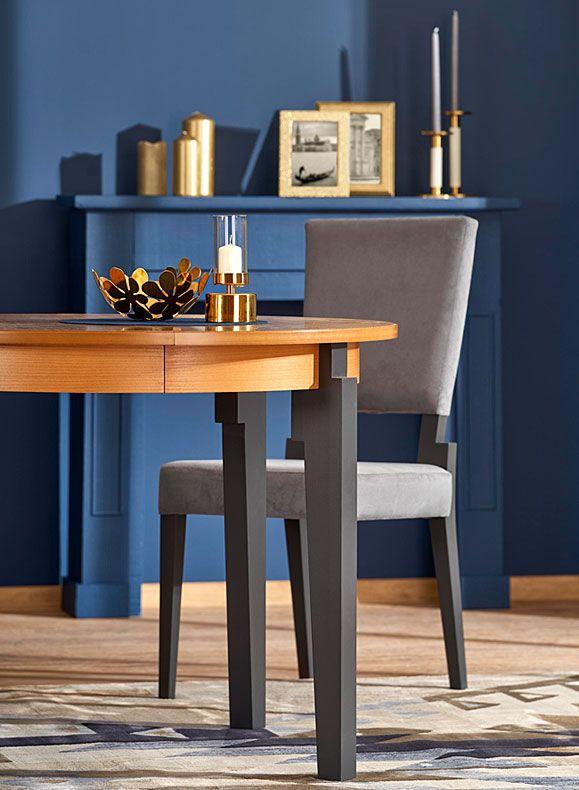 Szare krzesło drewniane minimalistyczne Elton