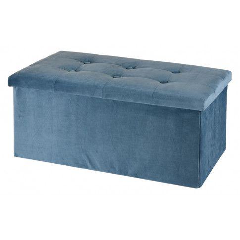 Zdjęcie produktu Pufa z pojemnikiem Milia - niebieska.