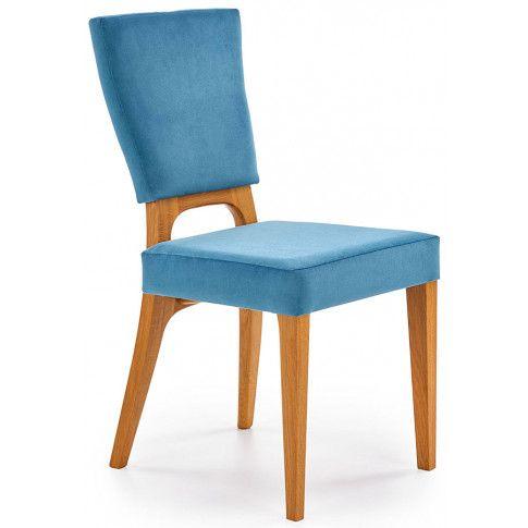 Zdjęcie produktu Krzesło dębowe Vernon - morskie + dąb miodowy.