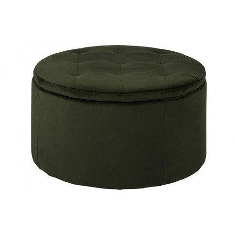 Zdjęcie produktu Okrągła pufa Almia - zielona.