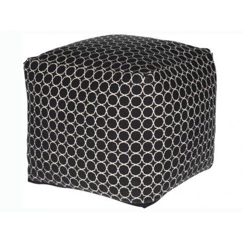 Zdjęcie produktu Pufa tapicerowana Wilis - czarna.