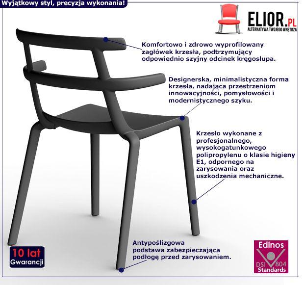 Modne kzesło Tello - czarne