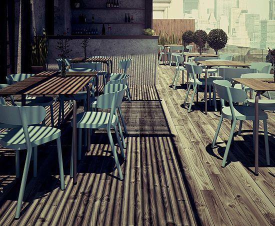 Designerskie krzesło Agio - błękitne
