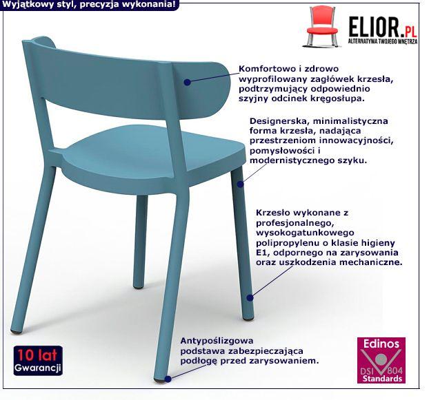 Stylowe krzesło Agio - na taras