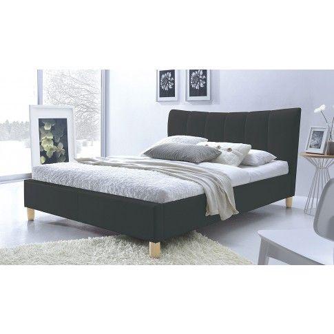 Zdjęcie produktu Łóżko tapicerowane czarne Sandis 160x200.