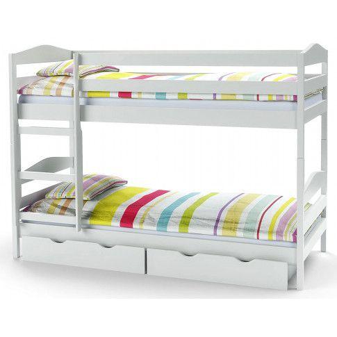 Zdjęcie produktu Drewniane łóżko piętrowe Dixi - białe.