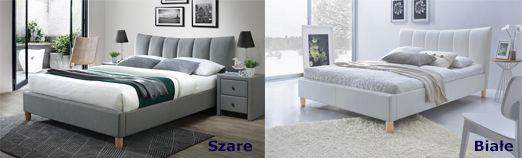 Komfortowe łóżko Sandis - pikowane