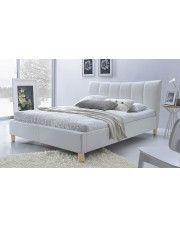Łóżko tapicerowane Sandis - białe w sklepie Edinos.pl