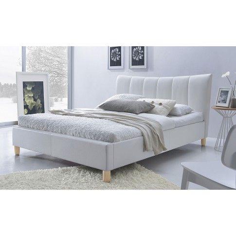 Zdjęcie produktu Łóżko tapicerowane Sandis - białe.