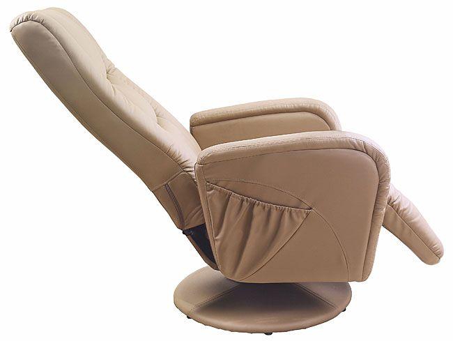 Beżowy fotel wypoczynkowy masujący Litos 2X