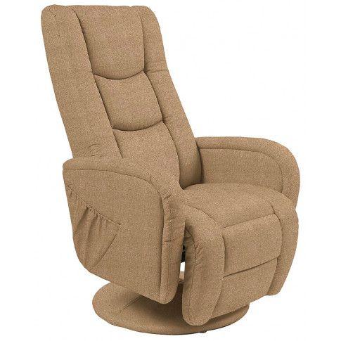 Zdjęcie produktu Obrotowy fotel rozkładany do salonu Litos 2X - beżowy.