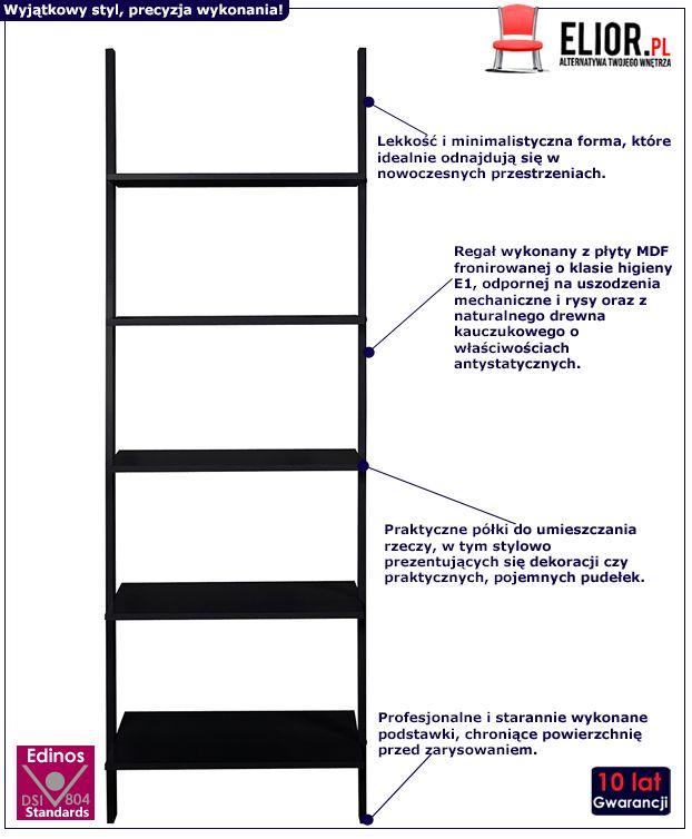 Minimalistyczne regały Lofe - czarny
