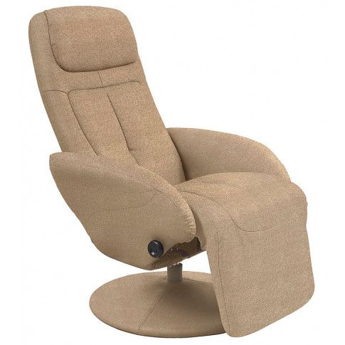 Zdjęcie produktu Obrotowy fotel wypoczynkowy do salonu Timos 2X - beżowy.