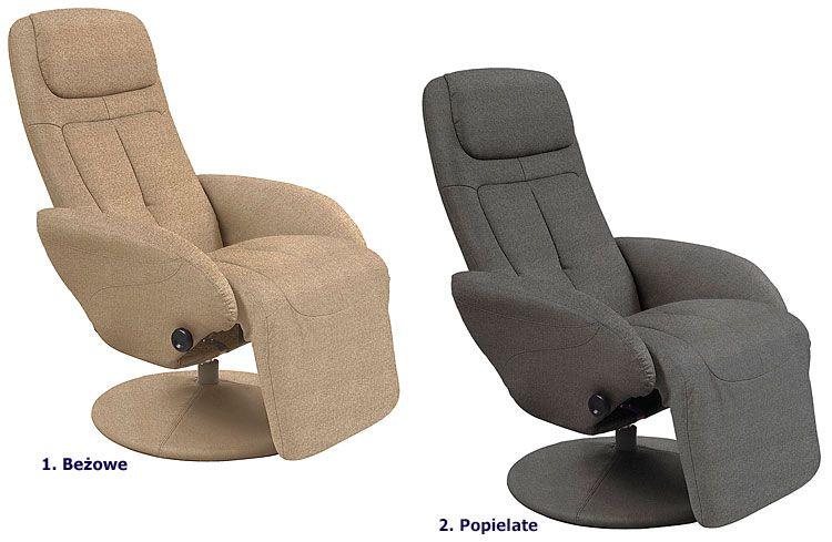 Rozkładany fotel wypoczynkowy do salonu Timos