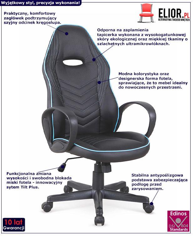 Komfortowy fotel obrotowy Erton - czarny