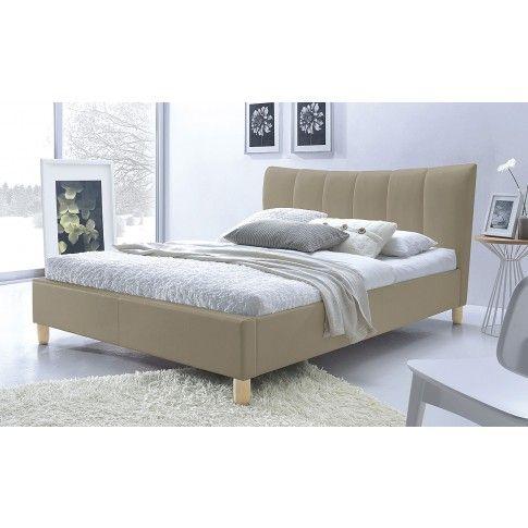 Zdjęcie produktu Łóżko tapicerowane beżowe 160x200 Sandis.