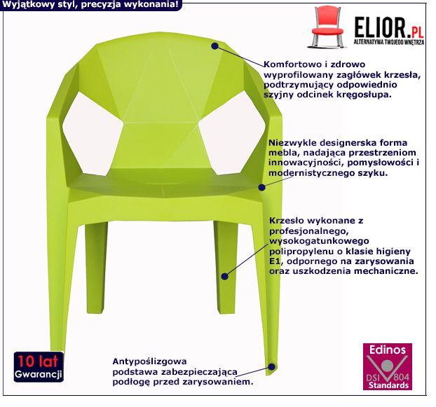 Zielone krzesło Jaksen - wygodne